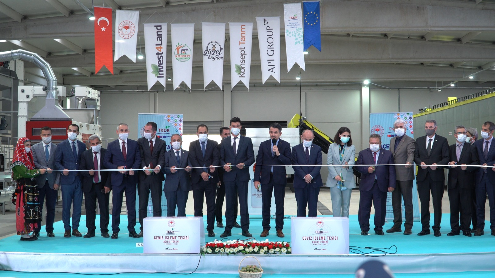 The Largest Walnut Process Factory of Turkey is opened!